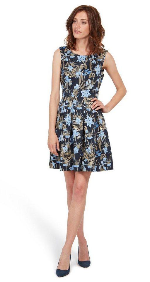 Tom Tailor jurk jurk met bloemenmotief blauw