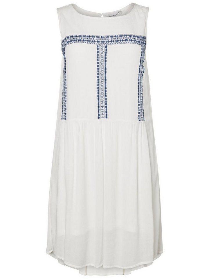 Junarose Geborduurde jurk wit