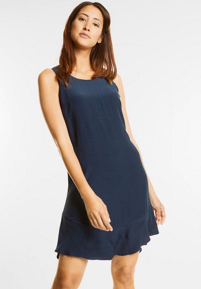 Street One jurk met volantzoom blauw