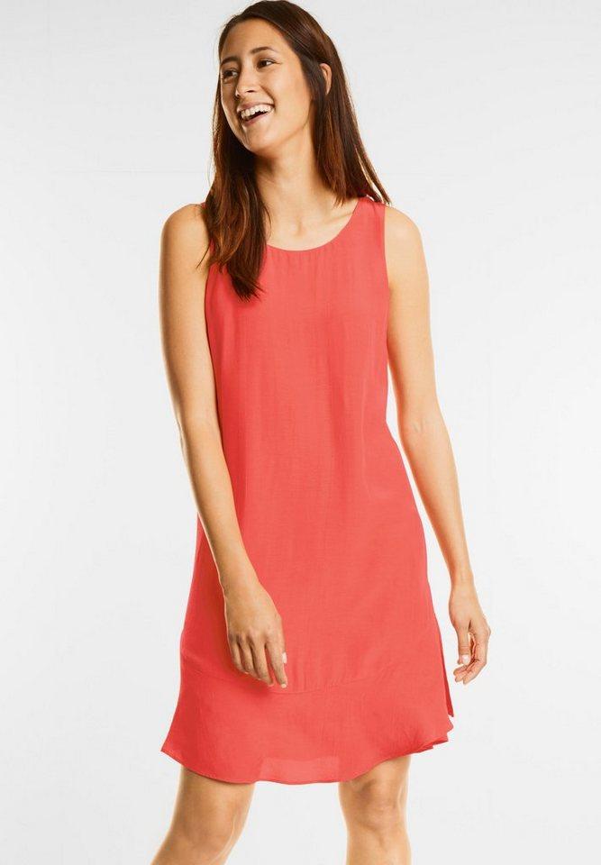 Street One jurk met volantzoom rood