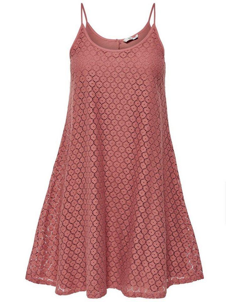 ONLY Loose fit Mouwloze jurk bruin