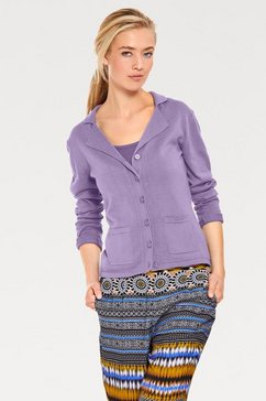 tricotvest paars