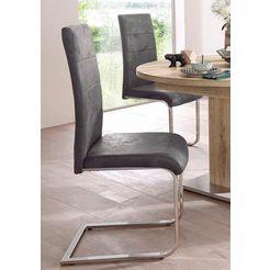vrijdragende stoel cosy (set, 2 stuks) grijs