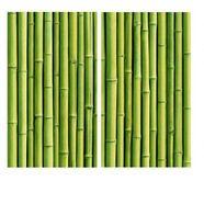 wall-art kookplaatdeksel keuken kookplaatafdekblad bamboe (set, 2-delig) groen