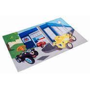 vloerkleed voor de kinderkamer, »bobby car 104«, bobby car, rechthoekig, hoogte 6 mm, print multicolor