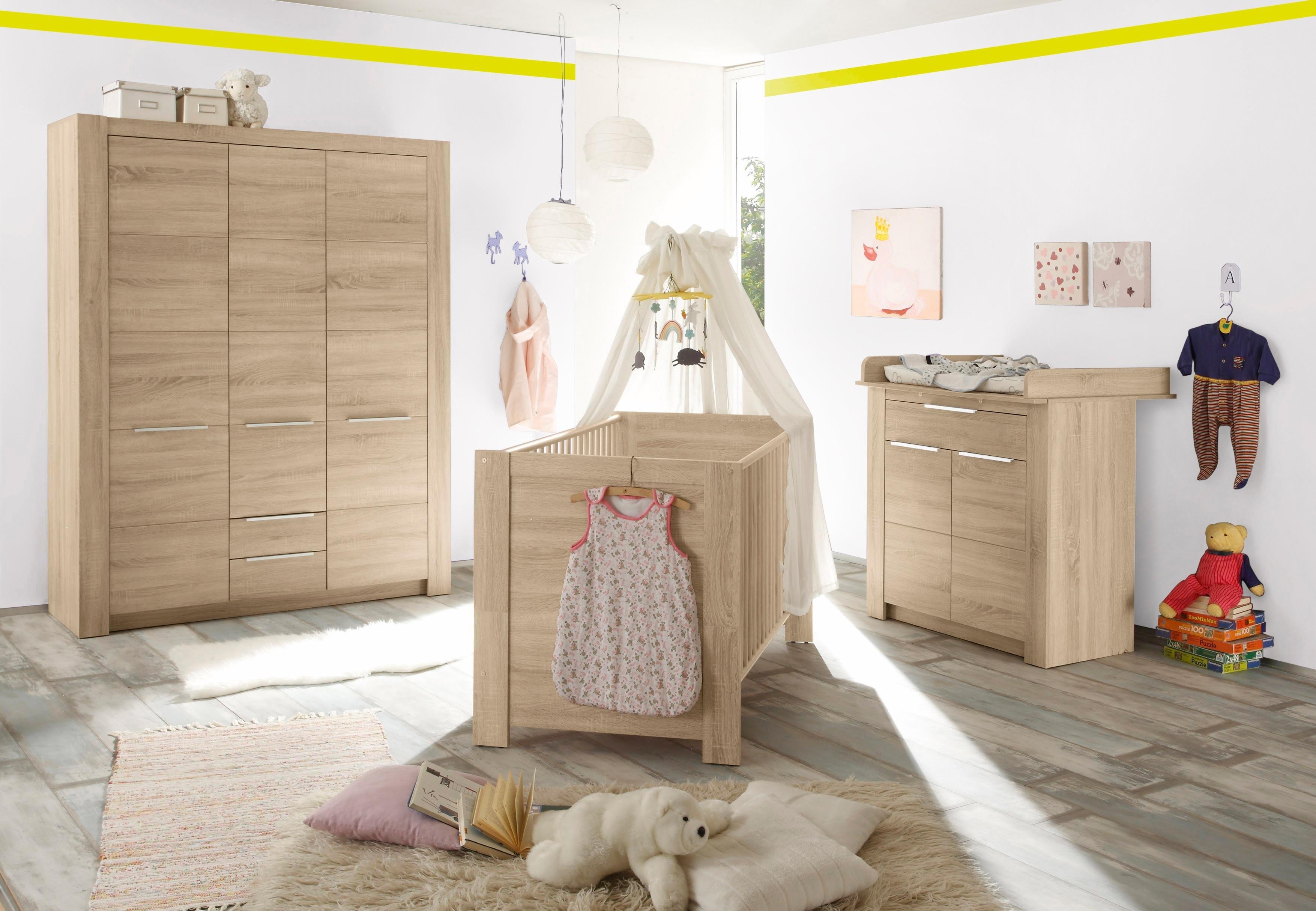 afbeeldingsbron slaapkamer hamburg babyledikantje babycommode brede garderobekast 3 dlg imitatie eiken