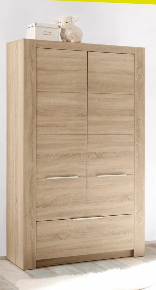 2-deurs garderobekast Hamburg, imitatie-eiken