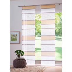 paneelgordijn, my home, »maria«, klittenbandrail (set van 2 met accessoires) beige