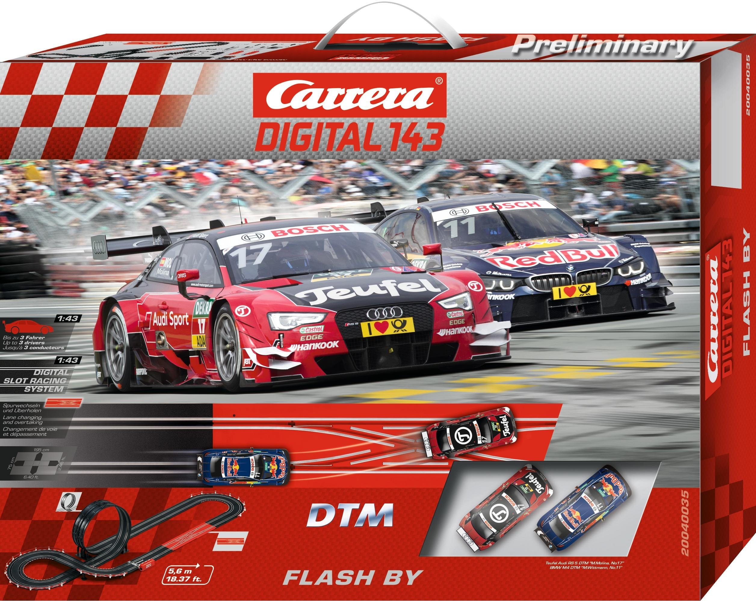 Carrera racecircuit, »Carrera® Digital 143 DTM Flash By« - verschillende betaalmethodes