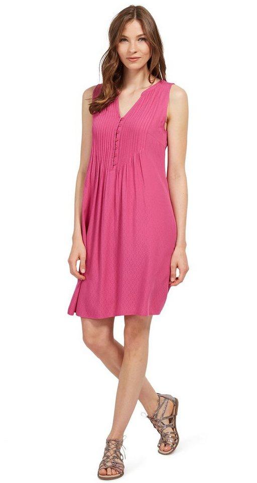 Tom Tailor jurk jurk met bies en knoopsluiting roze