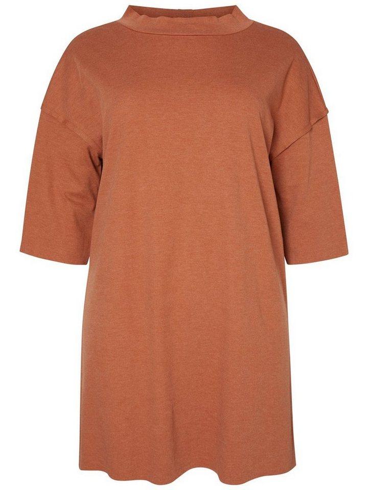 Junarose 3/4-mouw jurk bruin