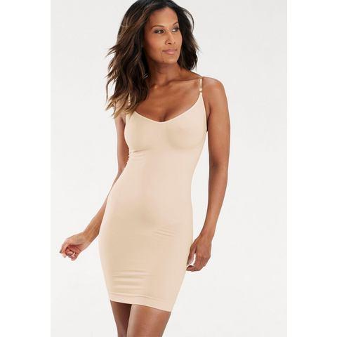 LASCANA bodyforming-jurk/onderjurk met transparante bandjes