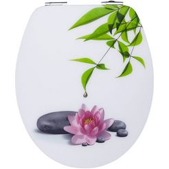 toiletzitting »water lilly«, mit absenkautomatik wit