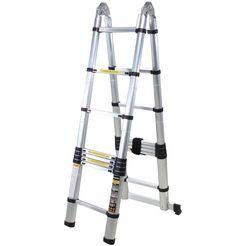 telescoop-hoekrek »inklapbare aluminium ladder«, 2 x 2,5 m (totaal 5,0 m) zilver