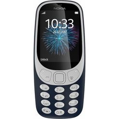 nokia 3310 retro dual sim gsm, 6,1 cm (2,4 inch) display, nokia s30+, 2,0 megapixel blauw