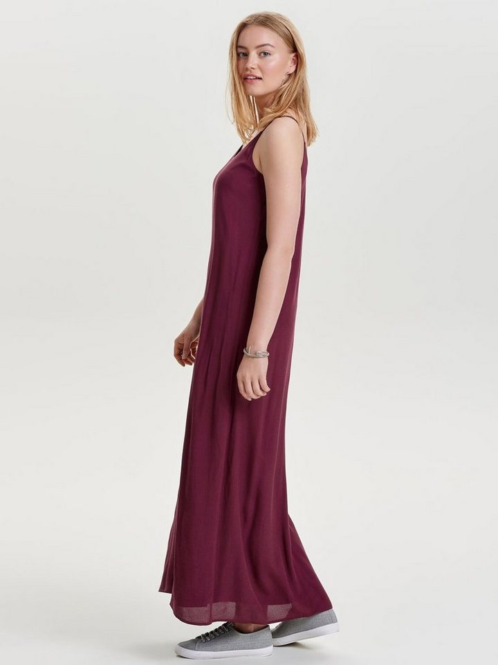 ONLY Mouwloze Maxi jurk rood