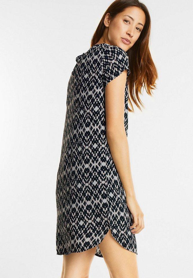 NU 21% KORTING: Street One jurk met strikbandje zwart