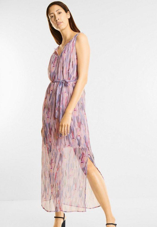 NU 21% KORTING: Street One jurk met verenprint paars