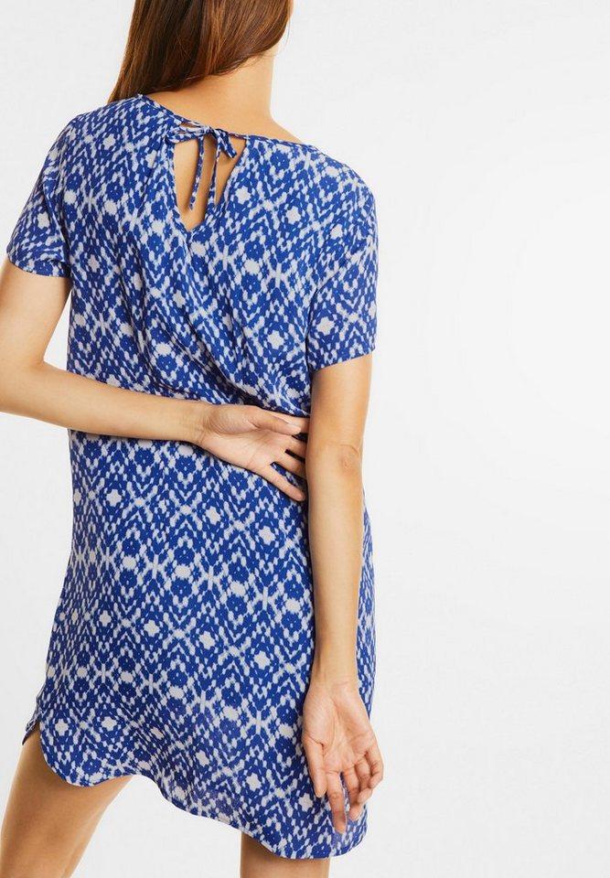 NU 21% KORTING: Street One jurk met strikbandje blauw