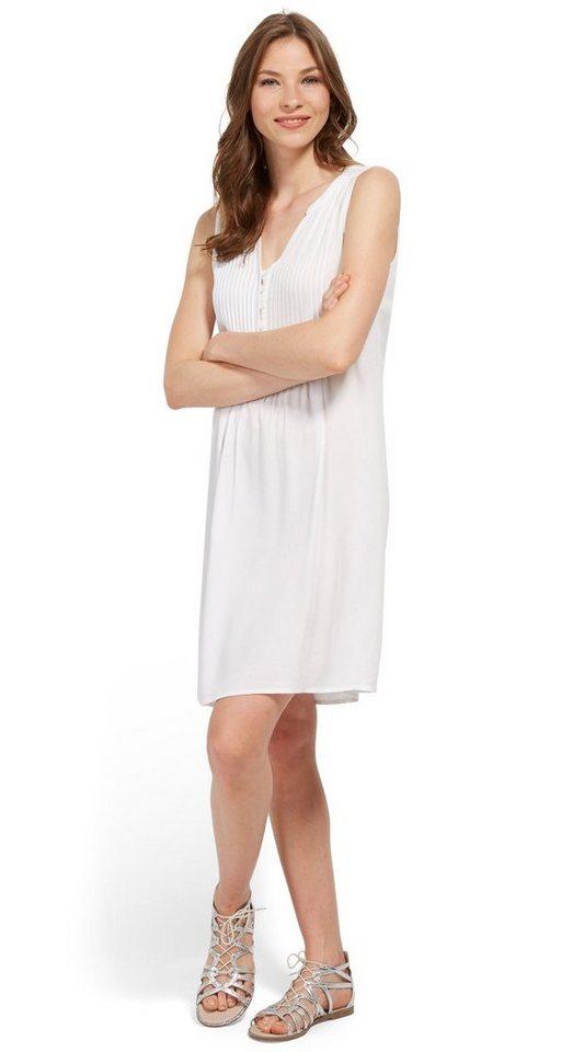 Tom Tailor jurk jurk met bies en knoopsluiting wit