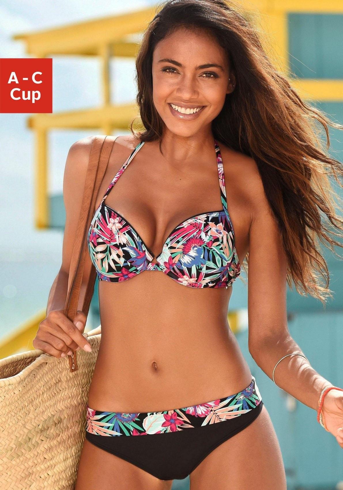 Op zoek naar een KangaROOS push-uptop »Bali« met trendy tropical-print? Koop online bij OTTO