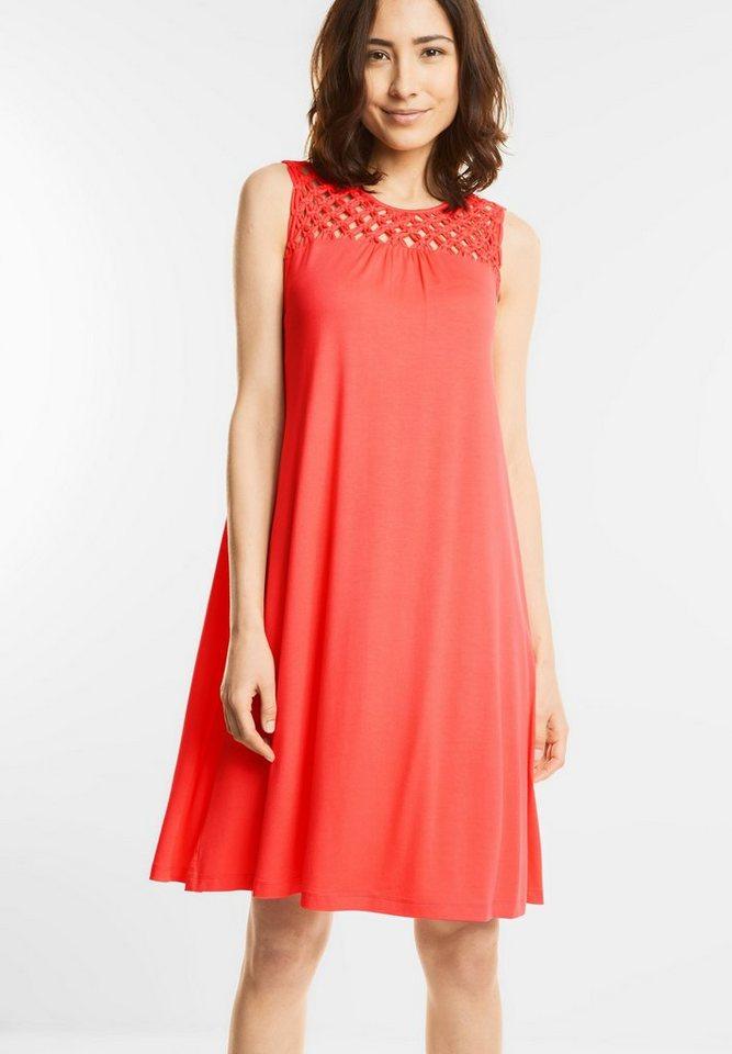 Street One jurk met geknoopt gedeelte rood