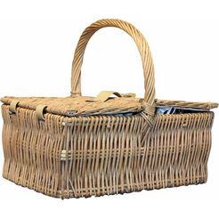 home affaire picknickmand voor 4 personen wit
