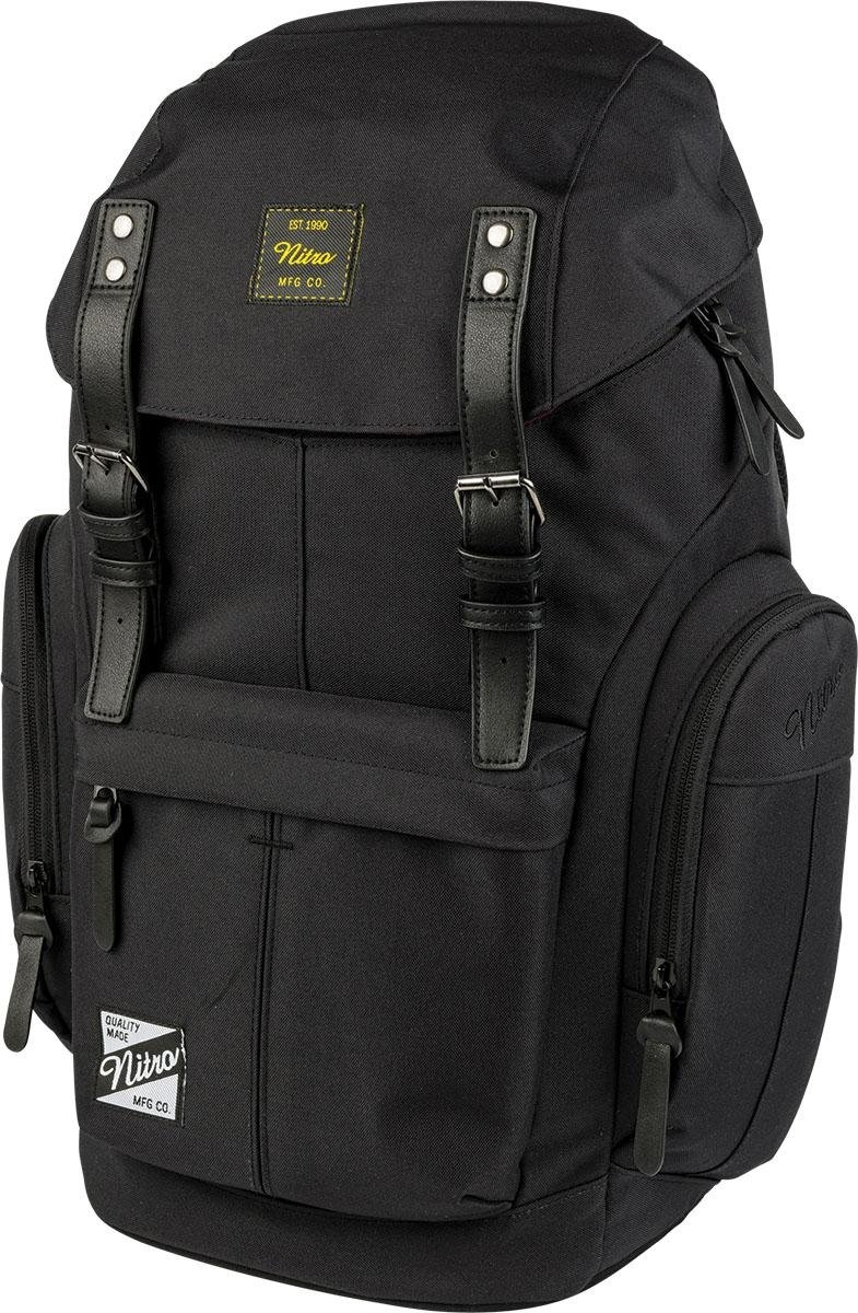 NITRO rugzak met laptopvak, »Daypacker True Black« - verschillende betaalmethodes