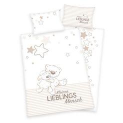 herding baby-overtrekset kleine favoriete persoon met teddy en schapen (2-delig) beige