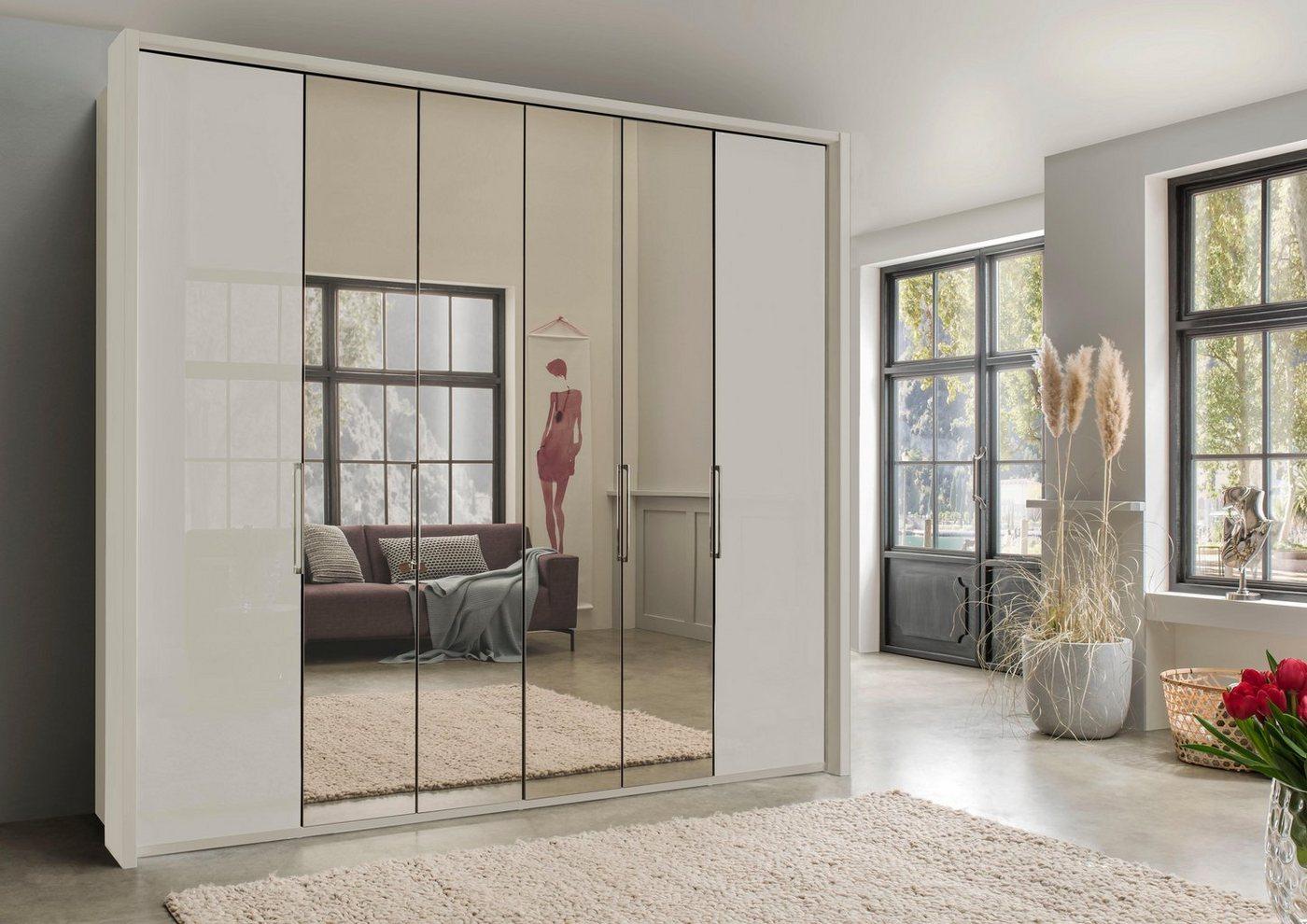 WIEMANN garderobekast, met spiegel en glas