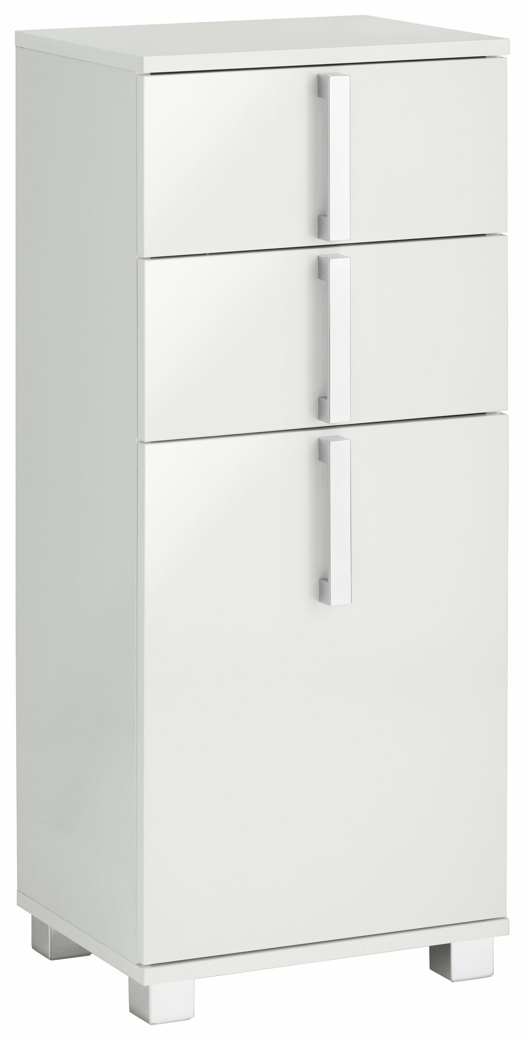 Schildmeyer onderkast Kampen Breedte 40 cm, badkamerkast met metalen handgrepen, deur met soft-closefunctie, aan te passen draairichting en 2 praktische laden in de webshop van OTTO kopen