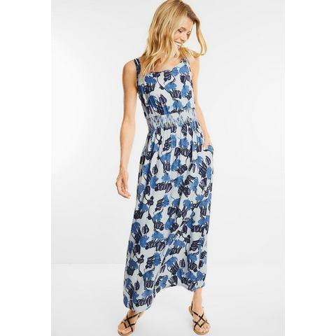 CECIL Maxi-jurk met blaadjesprint