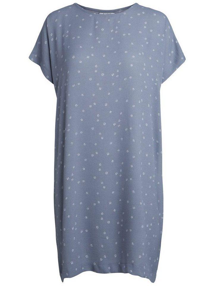 Pieces Gebloemde jurk grijs