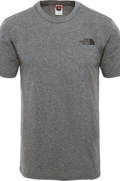 the north face functioneel shirt simple dome grijs