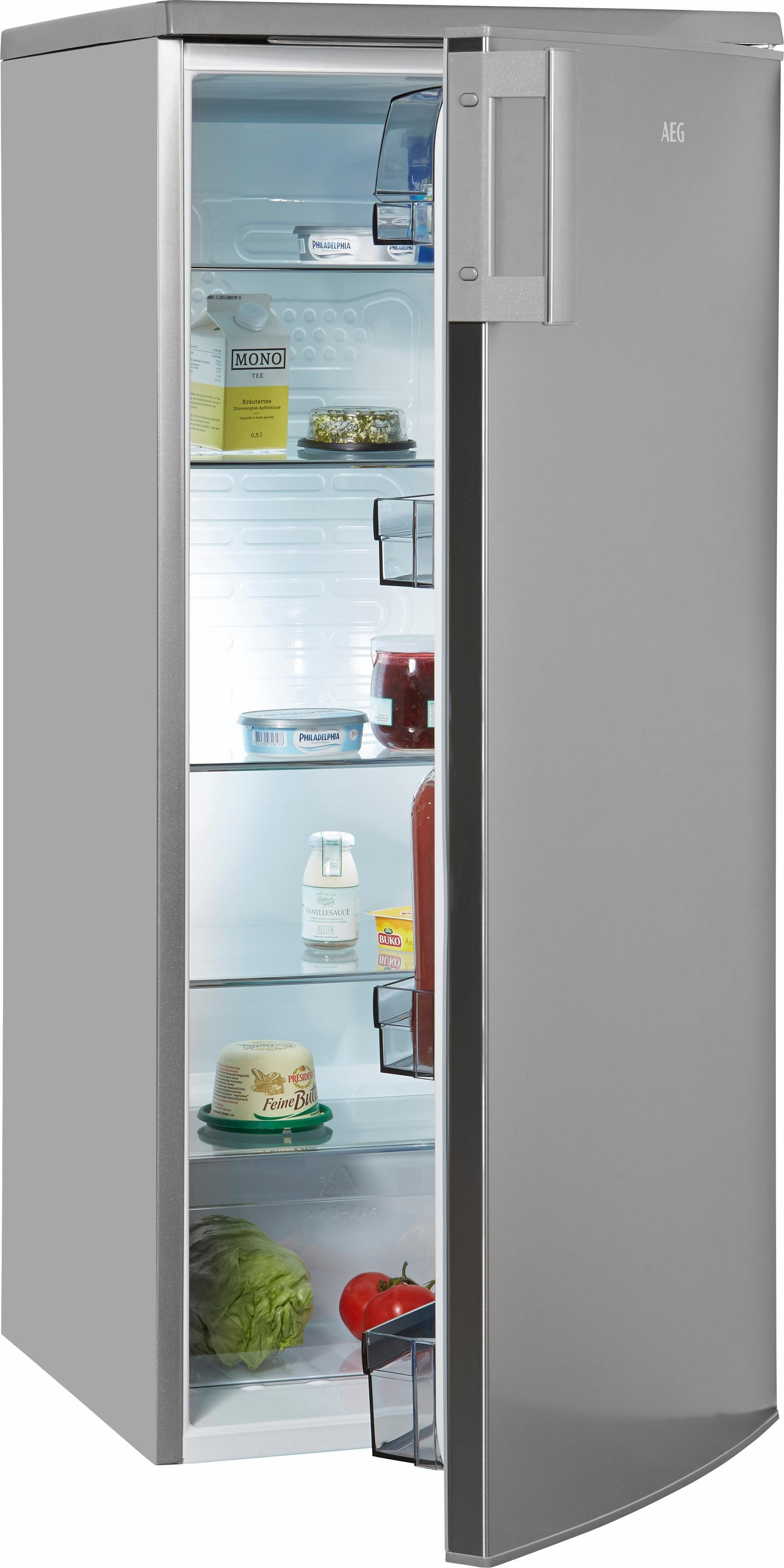 AEG koelkast RKB52512AX, A+, 125 cm hoog nu online kopen bij OTTO
