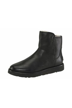 ugg laarsjes »abree mini leather« zwart