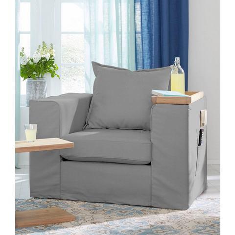 GMK Home & Living fauteuil Maarja, met vakken aan de buitenkant