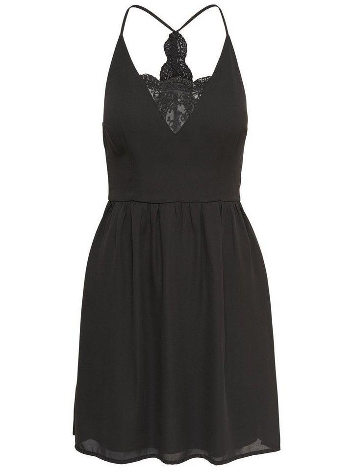 ONLY kanten Mouwloze jurk zwart