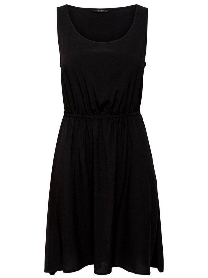 ONLY Effen Mouwloze jurk zwart