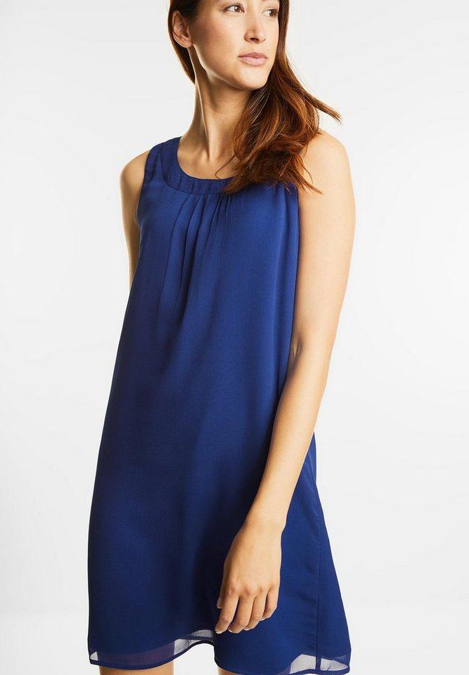 Street One chiffon jurk met strik blauw
