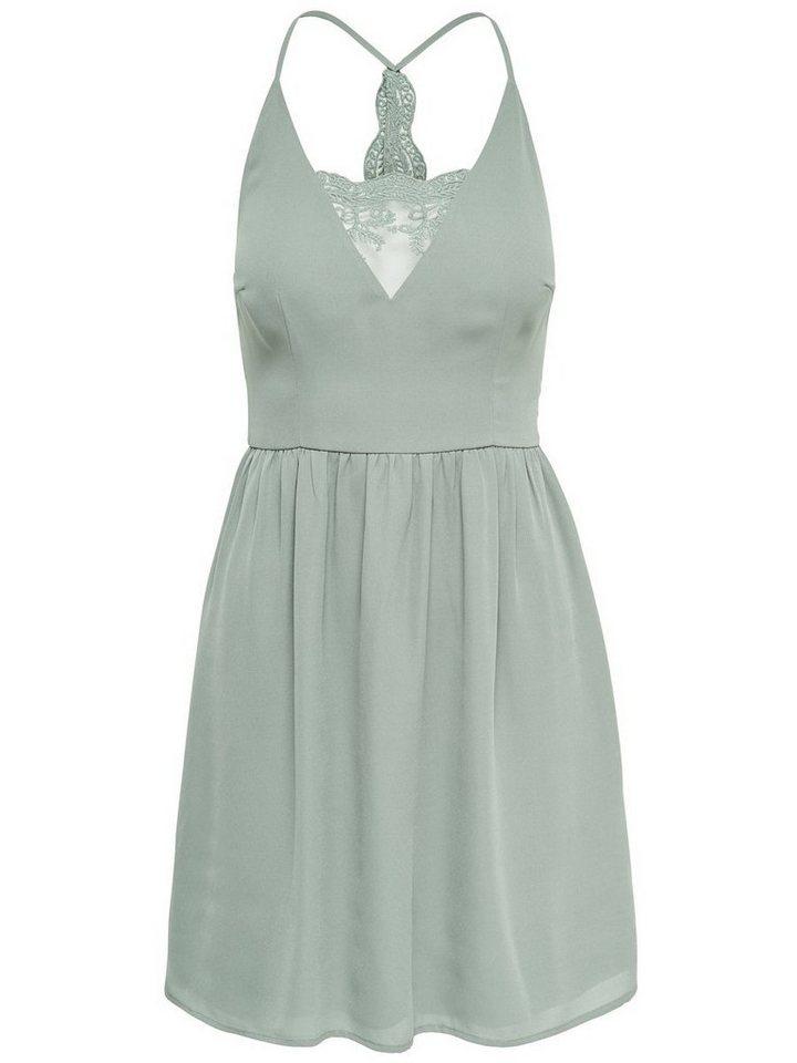 ONLY kanten Mouwloze jurk groen
