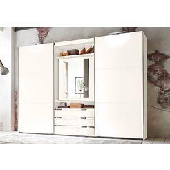 fresh to go zweefdeurkast magic met draaibare spiegeldeur wit