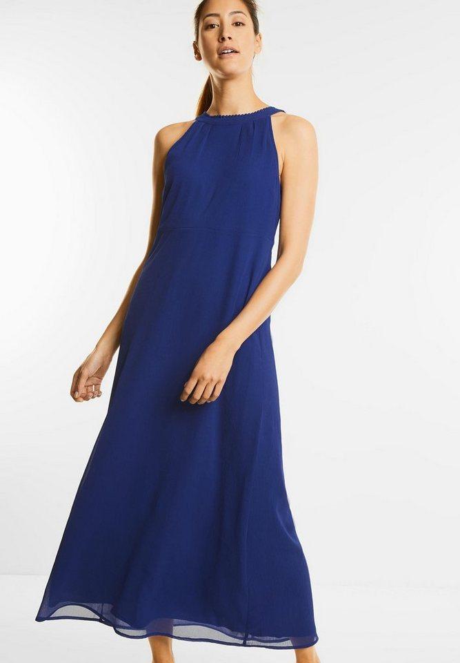 NU 21% KORTING: Street One chiffon-maxi-jurk Karina blauw