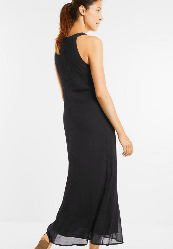 NU 21% KORTING: Street One chiffon-maxi-jurk Karina zwart