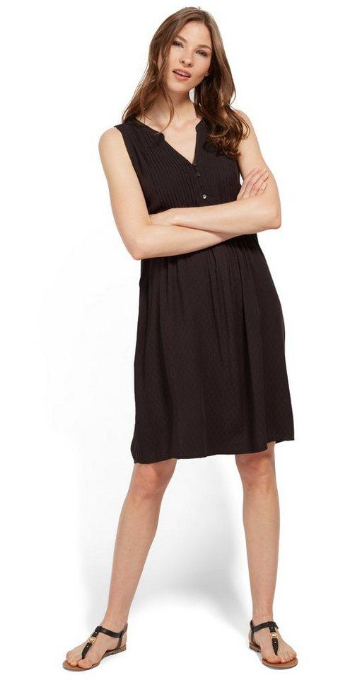 Tom Tailor jurk jurk met bies en knoopsluiting zwart