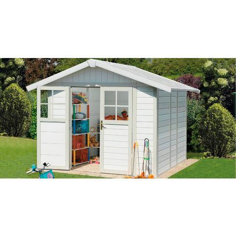 Grosfillex Garden Home DECO H4,9 (242x202cm), wit-groen