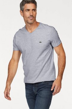 lacoste shirt met v-hals grijs
