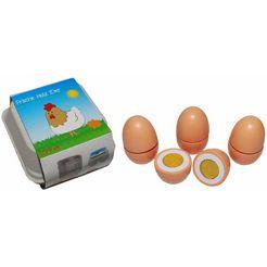 tanner speellevensmiddelen van hout met kartonverpakking, »eieren« multicolor