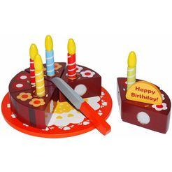 tanner speellevensmiddelen van hout, »verjaardagstaart om te snijden« multicolor