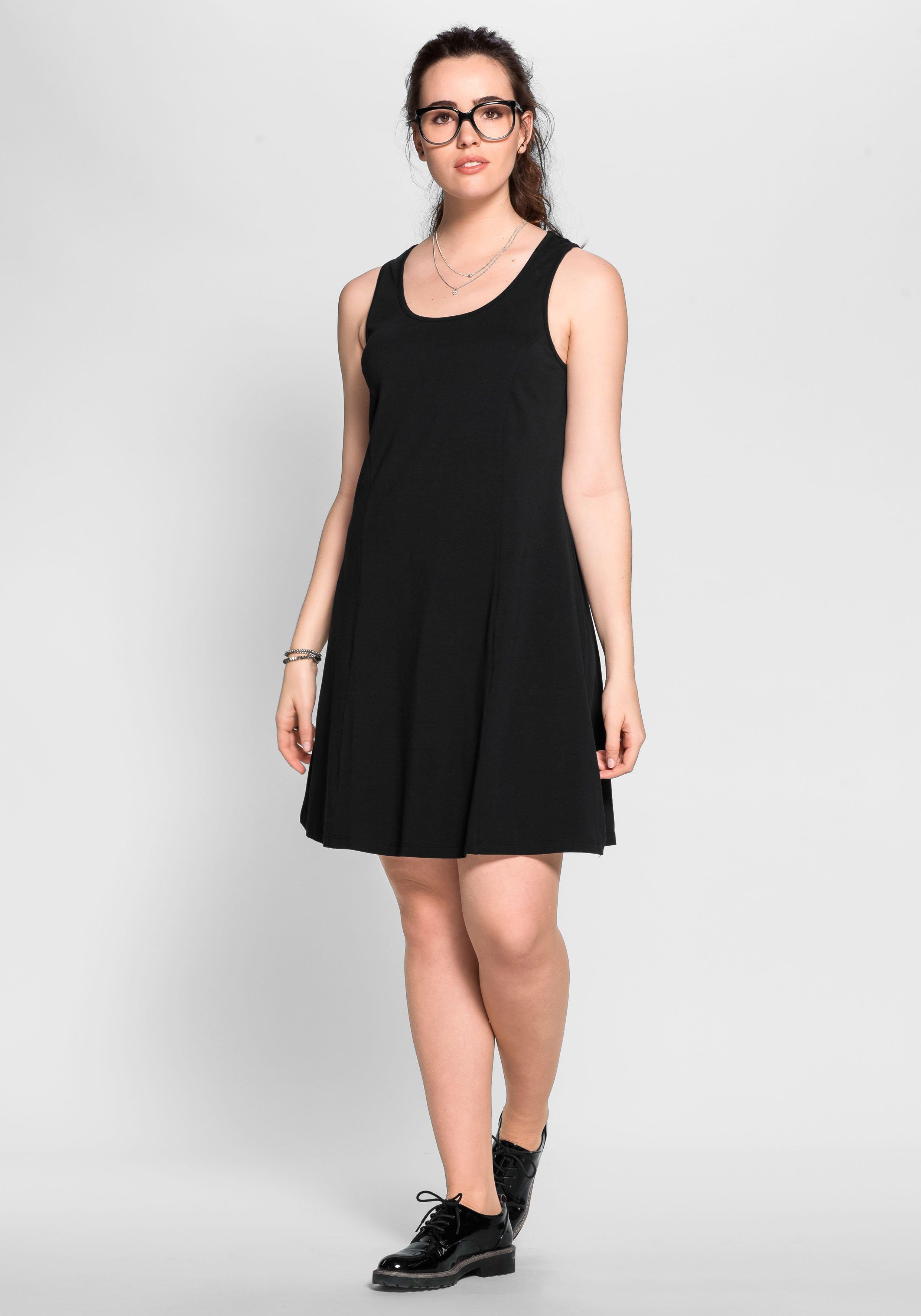 Sheego Basic BASIC jurk met brede bandjes bij OTTO online kopen